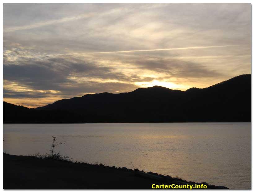 Watauga Lake Fishing Lake Sunset View Watauga
